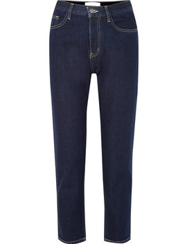 The Vintage Crop High Rise Slim Leg Jeans by Current/Elliott