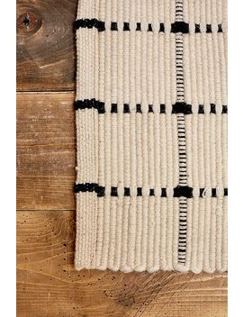 Black Grid 5x7 Rug by Urban Outfitters