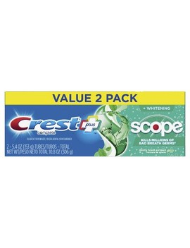 Crest + Scope Complete Whitening Toothpaste Minty Fresh   5.4oz   Pack Of 2 by Crest