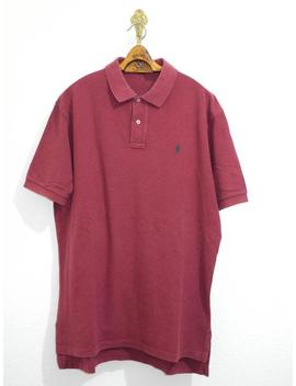 Ralph Lauren Polo Shirt L/Xl Bordeaux Verde Pony Oxblood Skater Surfer Preppy by Etsy
