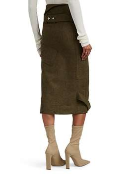 """Driftwood"" Belt Detailed Wool Skirt by Altuzarra"