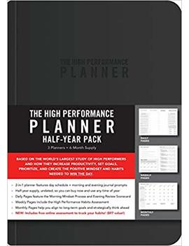 The High Performance Planner Half Year Pack: 3 Planners = 6 Month Supply by Brendon Burchard