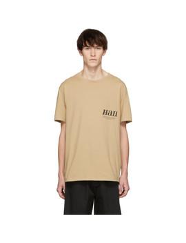 Beige Boxy T Shirt by Han Kjobenhavn