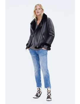Contrasting Biker Jacket  Momwoman Corner Shops New Collection by Zara