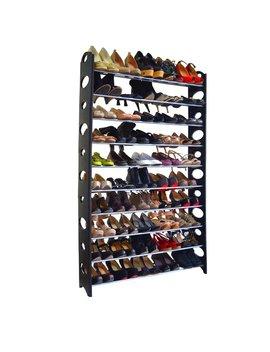 Rebrilliant 10 Tier 50 Pair Shoe Rack & Reviews by Rebrilliant