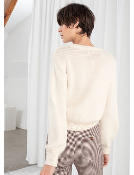 Cropped Wool Blend Cardigan by & Other Stories