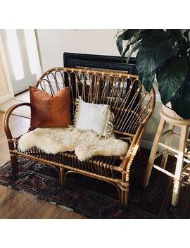 Franco Albini Style Rattan Settee, Rattan Loveseat, Rattan Sofa, Bamboo Settee, Bamboo Loveseat, Rattan Furniture, Bohemian Settee by Etsy