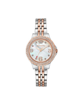 Juicy Couture Two Tone Watch W/ White Mother Of Pearl Dial by Qvc