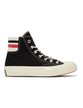 Black Wool Knit Back Chuck 70 High Sneakers by Converse