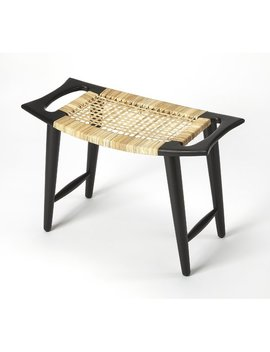 World Menagerie Arago Modern Rattan Accent Stool by World Menagerie