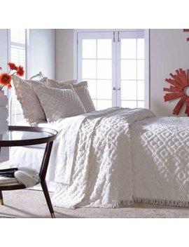 Diamond Tufted Chenille Bedspread Sham by Belle Maison