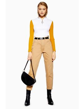 Sand Utility Mom Jeans by Topshop