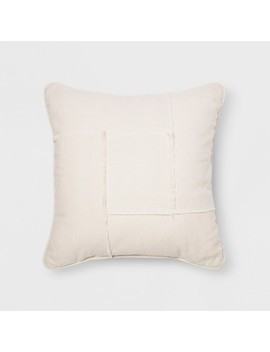 Pieced Raw Edge Throw Pillow Cream   Project 62™ by Shop This Collection