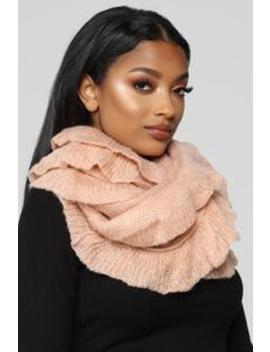 Ruffle Me Up Scarf   Pink by Fashion Nova