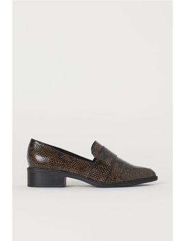 Slangeskindsmønstrede Loafers by H&M