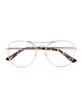 Aviator Style Rose Gold Tone Optical Glasses by Jimmy Choo