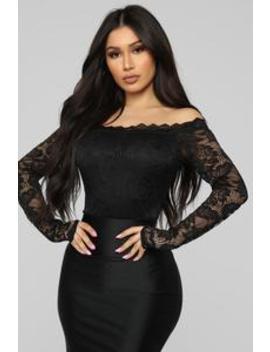 Romantic Lace Bodysuit   Black by Fashion Nova