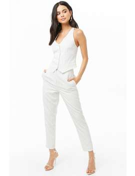 Pinstriped Vest & Pants Set by Forever 21