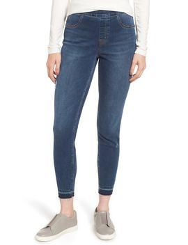 Distressed Skinny Denim Leggings by Spanx®