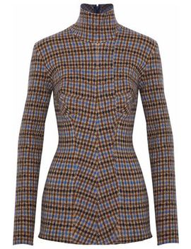 Checked Wool Turtleneck Sweater by Stella Mc Cartney