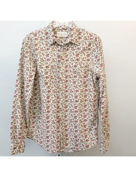 Ralph Lauren Denim And Supply Women Shirt Floral Cotton Button Front Medium by Ralph Lauren