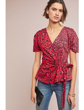 Patchwork Leopard Top by Eva Franco