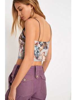 Uo Renaissance Print Mesh Cami by Urban Outfitters