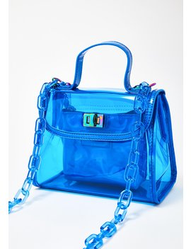 Clear Blue Chain Purse by Like Dreams