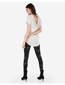 Express One Eleven Heather Strappy Back London Tee by Express