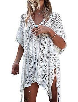 Garsumiss Women Beach Swimsuit Crochet Cover Up Beach Bikini Dress Stylish Bathing Suit by Garsumiss
