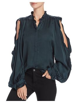 Cold Shoulder Ruffle Shirt by 7 For All Mankind