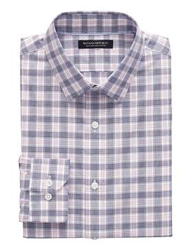 Camden Standard Fit Non Iron Tartan Plaid Shirt by Banana Repbulic