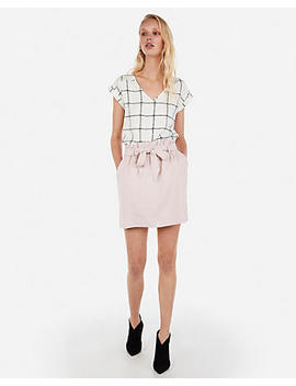 Windowpane V Neck Gramercy Tee by Express