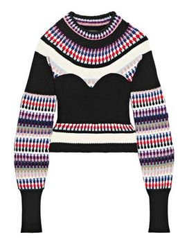 Ribbed Intarsia Knit Sweater by Burberry