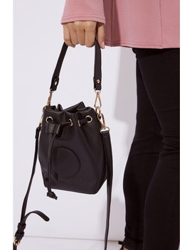 Black Bucket Bag by In The Style