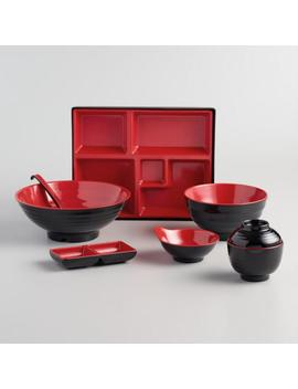 Black And Red Melamine Dinnerware Collection by World Market