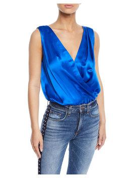 Tara Wrap Front Sleeveless Bodysuit by Amanda Uprichard