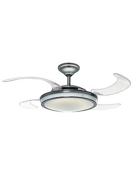 "Hunter 59085 Fanaway Retractable Blade 48"" Brushed Chrome Ceiling Fan With Light Kit And Remote Control by Hunter Fan Company"