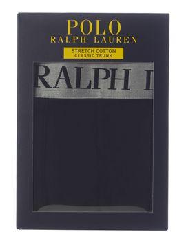 Cotton Stretch Silver Waistband Trunks by Polo Ralph Lauren