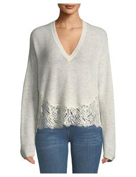 Hysteria Lace Trim V Neck Sweater by Iro
