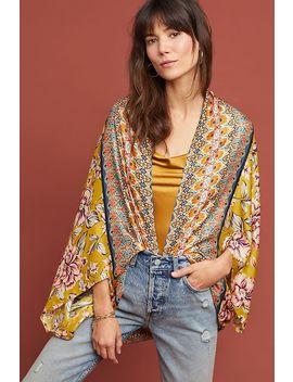 Floral Silk Cocoon Kimono by Kachel X Anthropologie