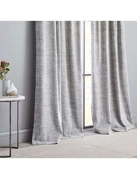 Distressed Textured Velvet Curtain by West Elm