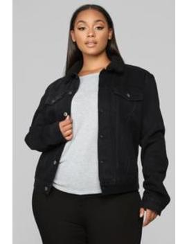 His Jacket's Mine Now Sherpa Jacket   Black by Fashion Nova