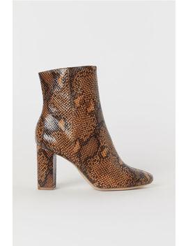 Boots Met Slangenleerdessin by H&M
