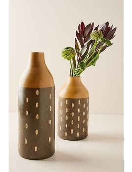 Wooden Reid Vase by Anthropologie