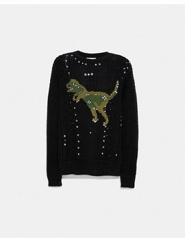 Rexy Cable Knit Sweater by Coach