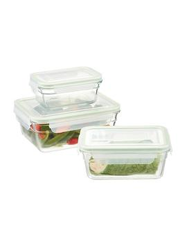 Glasslock Rectangular Food Containers With Lids by Container Store