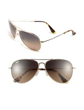 Mavericks 61mm Polarized Plus2® Aviator Sunglasses by Maui Jim
