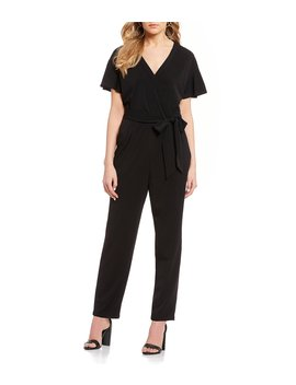 Short Sleeve Wrap Jumpsuit by Takara