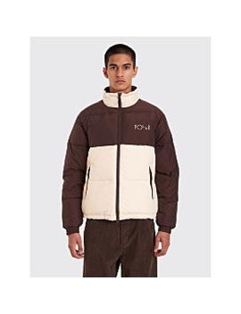 Polar Skate Co. Combo Puffer Jacket Brown / Cream by Très Bien
